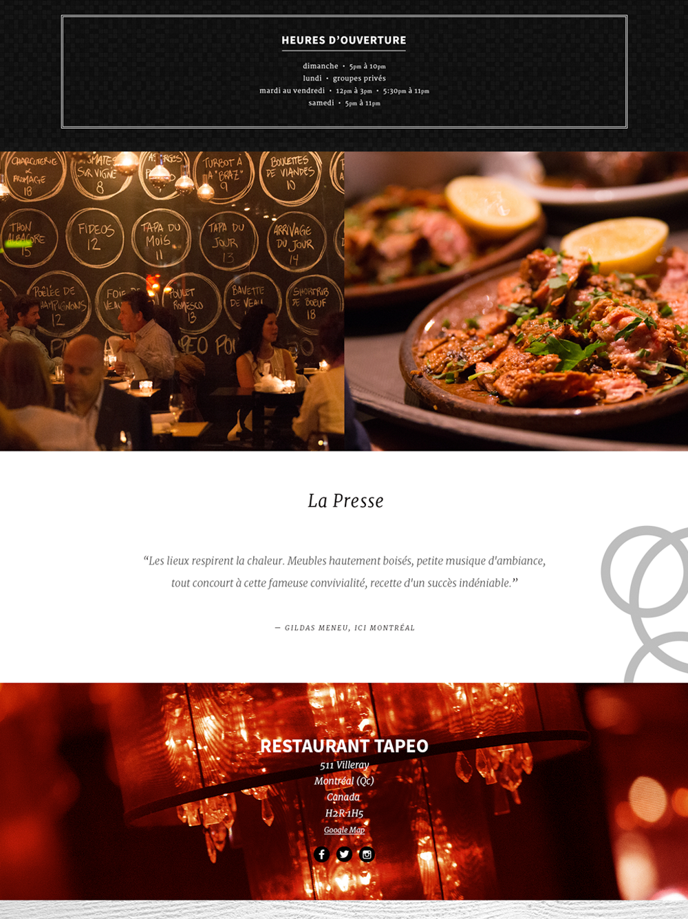 Multi Restaurant Tapeo